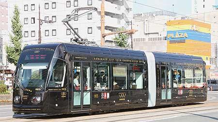 熊本市交「COCORO」が営業運転を開始