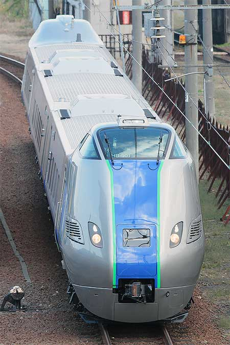 キハ285系が苗穂工場で試運転