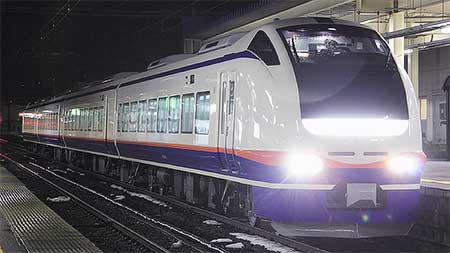 E653系1100番台H202編成が信越本線で試運転