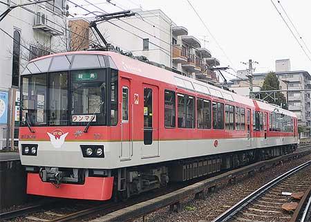 叡山電鉄900系に「叡電ハトマーク」
