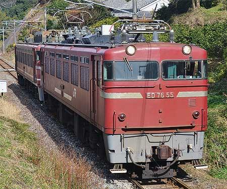 鹿児島本線でED76+EF81の重連単機