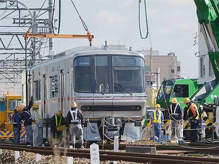 名鉄瀬戸線に3300系増備車が搬入される