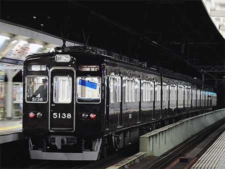 もと阪急5100系5136編成が能勢電鉄転用改造を終え出場