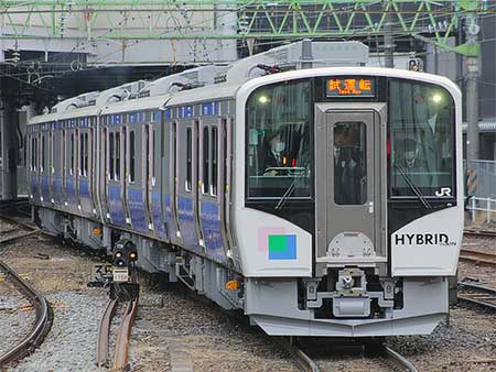 HB-E210系が東北本線で試運転