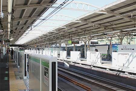 山手線田端駅に可動式ホーム柵が設置される