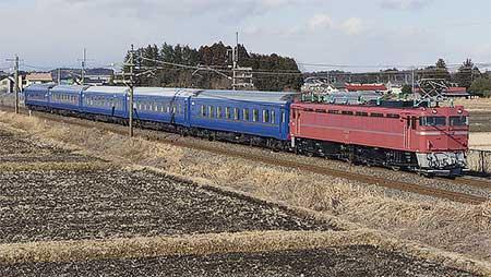 EF81 81が24系客車をけん引