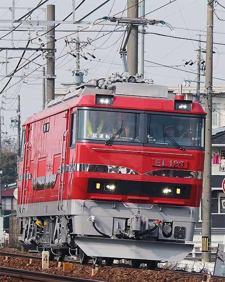 名鉄の新形電気機関車が本線試運転