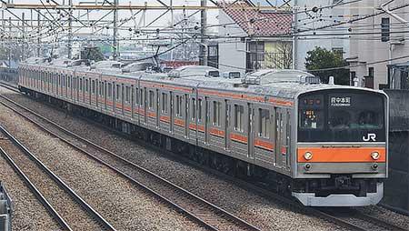 205系もとナハ5・6編成が武蔵野線で営業運転を開始