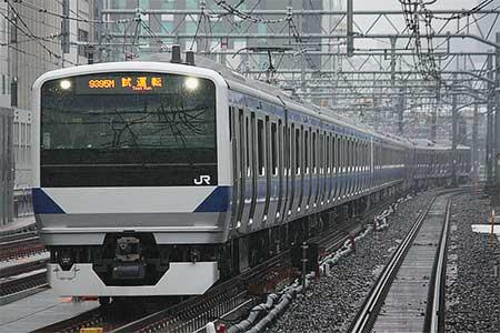 E531系が上野東京ラインで試運転