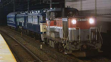EF58 150,EF65 1,オロネ24 4が京都鉄道博物館に向けて甲種輸送される