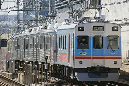 東急7700系7907編成が長津田車両工場へ