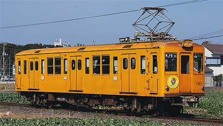 銚子電鉄デハ1001にヘッドマーク