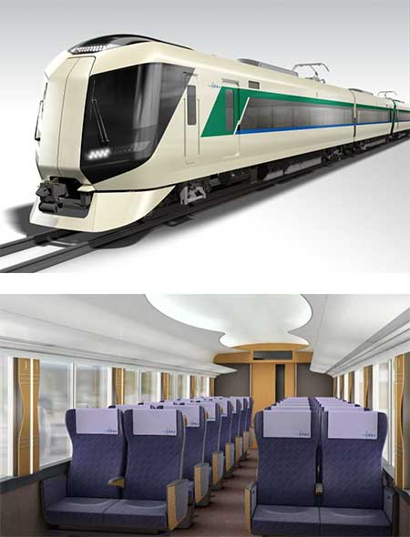 東武本線に新形特急車両500系を導入