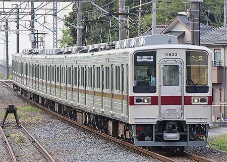 東武鉄道10030系11633編成がリニューアルされる
