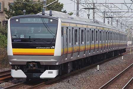E233系N5編成が東海道貨物線で試運転
