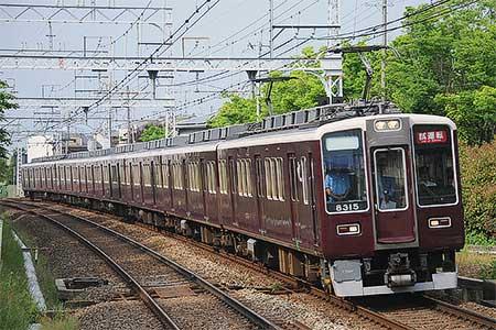 阪急8300系8315編成がVVVF換装後の試運転を実施