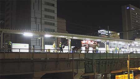 山手線秋葉原駅に可動式ホーム柵設置
