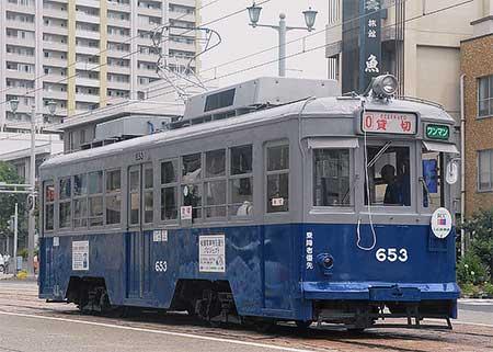 被爆電車653号が昭和20年当時の塗装に