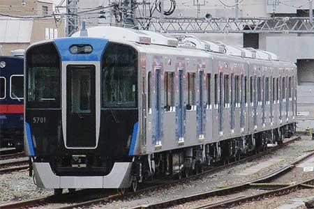 阪神5700系が尼崎西側に留置される