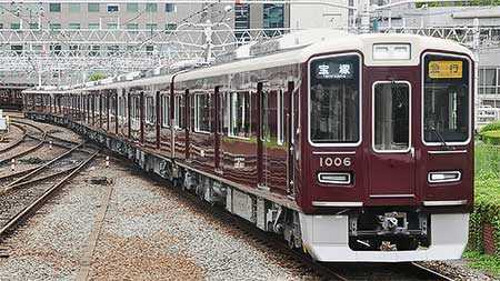 阪急1006編成が宝塚線で営業運転を開始