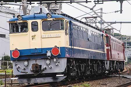 EF65 1106が秋田総合車両センターへ