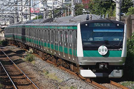 E233系に埼京線開業30周年記念ヘッドマーク
