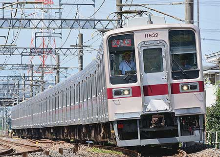 東武鉄道東上本線で10000系・10030系・30000系による日中試運転