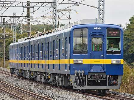 東武鉄道8000系8198編成が「フライング東上」カラーとなって出場