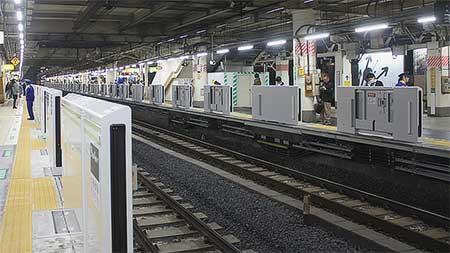 山手線上野駅に可動式ホーム柵設置