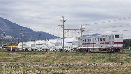 ホキ1100-1が三岐線に初入線