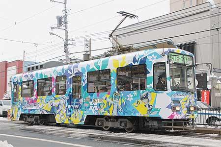 札幌市交で「雪ミク電車」運転