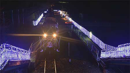 嵯峨野観光鉄道で『保津峡エキナリエ2015』開催