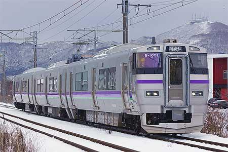 733系1000番台が函館地区で試運転を開始
