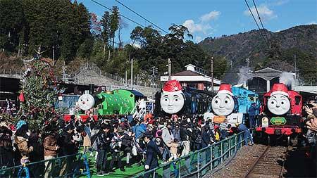 大井川鐵道千頭駅で『トーマスクリスマスフェア』開催