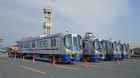 西鉄3000形4両が新門司港に到着