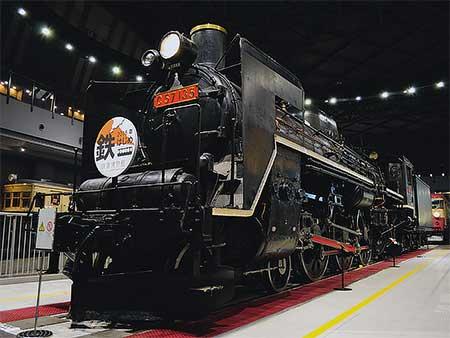 鉄道博物館 C57 135に「2016年 鉄はじめ」ヘッドマーク