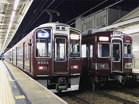 阪急9000系9004編成が宝塚線へ