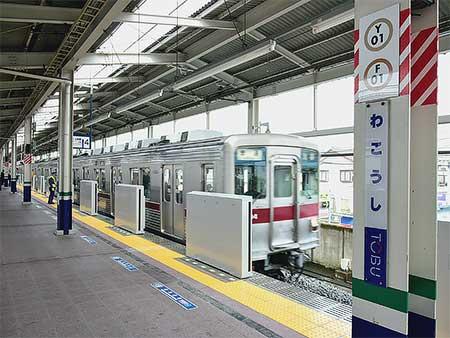 東上線和光市駅4番線ホームに可動式ホーム柵が設置される