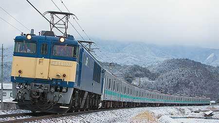 E233系2000番台マト12編成が配給輸送される