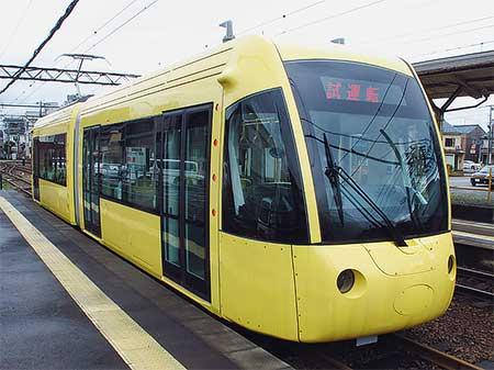 えちぜん鉄道と福井鉄道の相互乗入れに向けた試運転