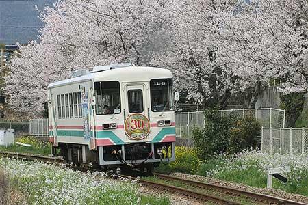甘木鉄道で開業30周年記念ヘッドマーク