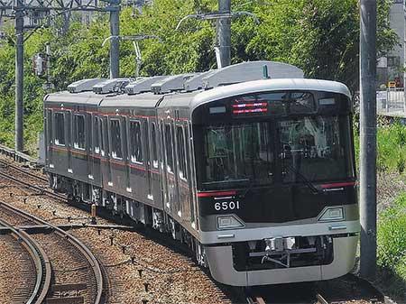 神戸電鉄6500系が日中に試運転