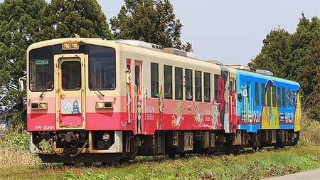 由利高原鉄道YR-2001に新ラッピング