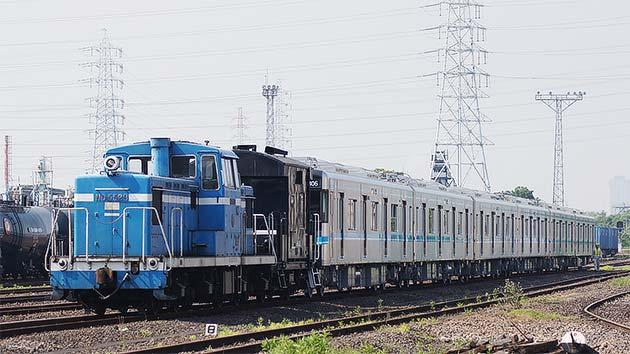 名古屋市交通局N3000形が甲種輸送される