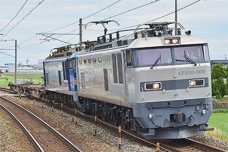 富山機関区所属となったEF510-509の運用開始