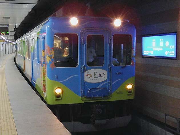 近鉄 2013系「つどい」が桜川まで入線