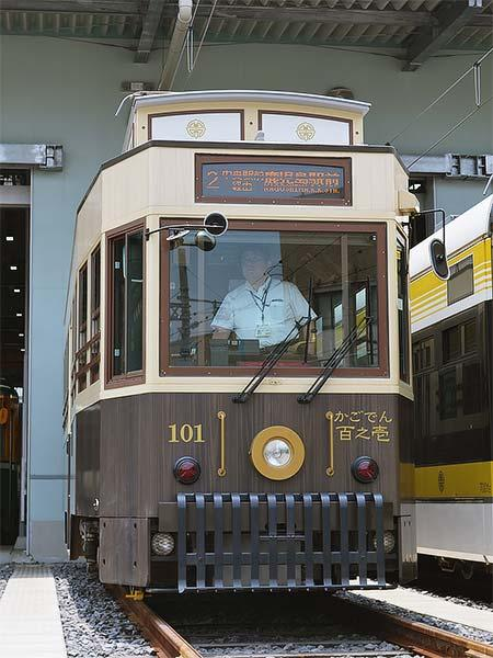 「観光レトロ電車かごでん」が定期営業路線で運転される