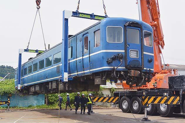 14系客車4両が大井川鐵道に到着