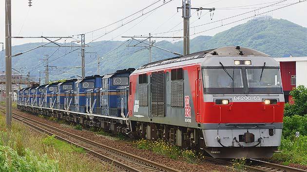 DD51形8両が陣屋町へ