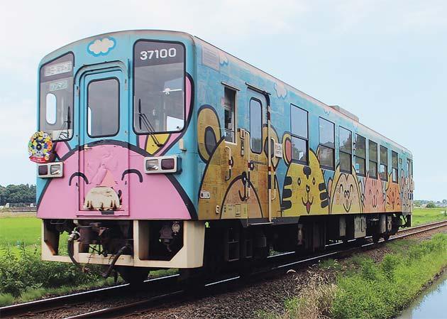 ひたちなか海浜鉄道キハ3710形にヘッドマーク